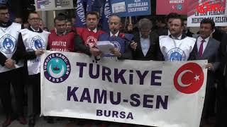 Türk Kamu-sen Bursa Temsilciliği ek zam Eylemi