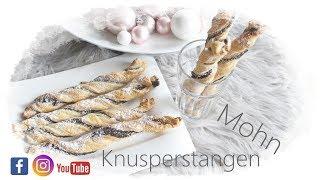 Weihnachtsbäckerei - Mohn Knusper Stangen - Blätterteig - Blitz Rezept - Backlounge