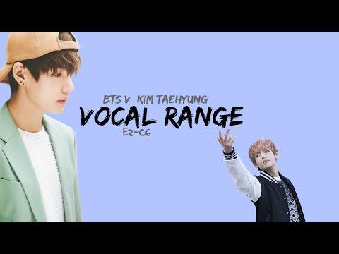 BTS 방탄소년단 V 뷔 Kim Taehyung 김태형 Vocal Range [E2-C6]