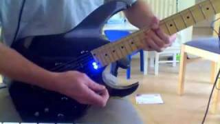 Self designed DIY guitar Sustainer coil (with twinkler LEDs!)