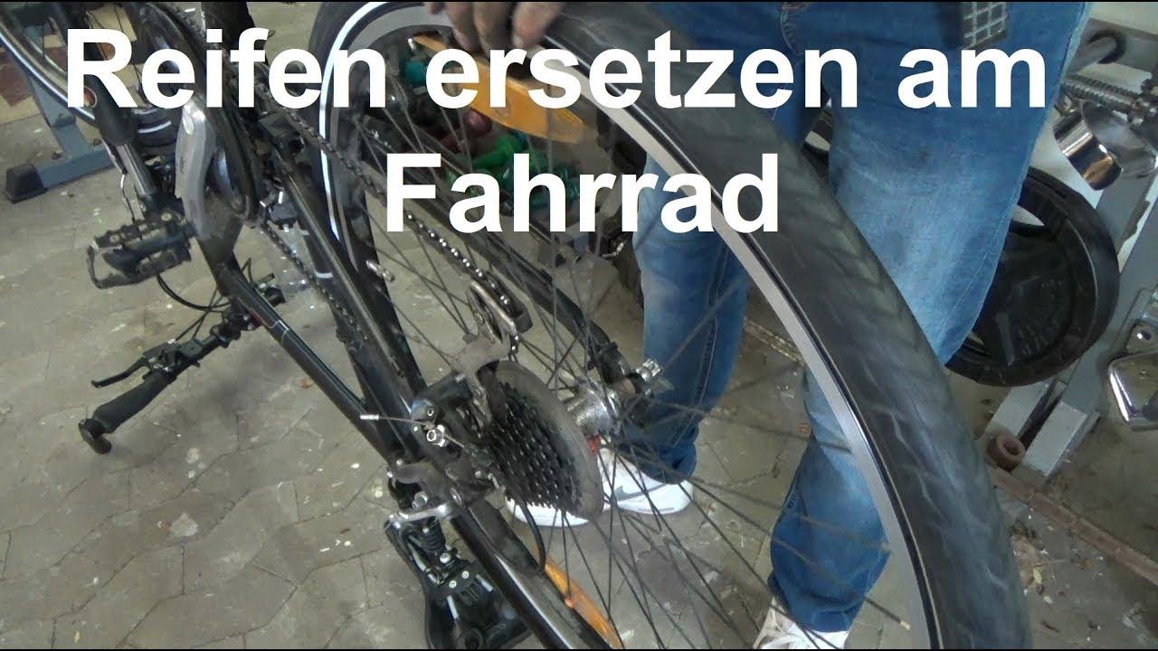 Fahrradreifen mantel wechseln