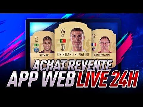 FIFA19 ! LIVE 24H SUR L'APP WEB ! ACHAT REVENTE !