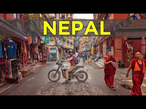 Riding in Kathmandu is INSANE! | HISTORIC THAMAL | MOTOVLOG