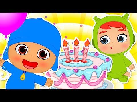 HAPPY BIRTHDAY | Pocoyo and Nina Babies Cartoons | Nursery Rhymes for children