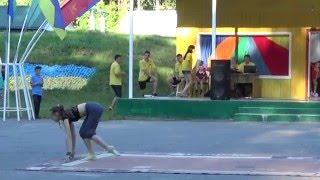 Гимнастический танец от Влады (Орлёнок-2015)(Гимнастический танец от Влады на открытии 2-й смены в детском спортивно-оздоровительном лагере