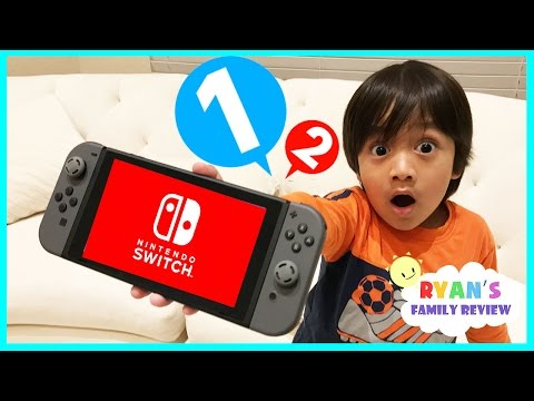 Nintendo Switch Unboxing and 1-2-Switch! Gameplay on Family
