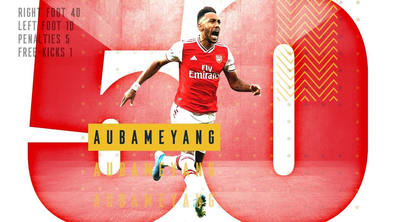Download All 50 of Pierre-Emerick Aubameyang's Arsenal goals
