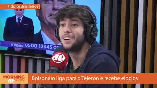 Jovem Pan: Telespectadores boicotam Teleton após ligação de Bolsonaro