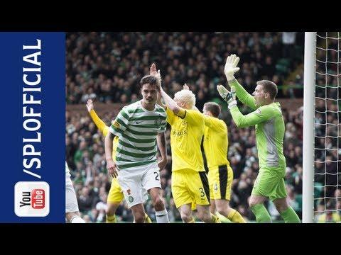Mikael Lustig Scores 'Hand of God' Goal, Celtic 3-0 Hibernian, 06/04/2013