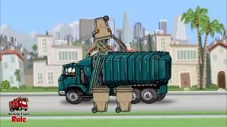 Garbage Truck Videos For Children l Garbage Truck Pick Up Los Angeles Fun Game l Garbage Trucks Rule