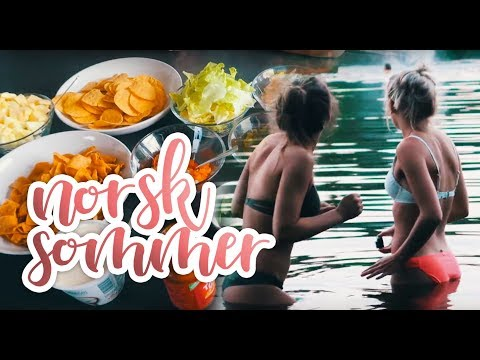VLOG :: Norsk sommer, venner og bading