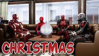 Merry Christmas | Deadpool, Ant-Man, Iron Man & Spider-Man | Hindi Comedy Video | Pakau TV Channel