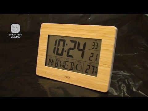 Часы FanJu FJ3530 из Китая (3 будильника, радиосинхронизация времени, фаза луны, термометр, таймер)
