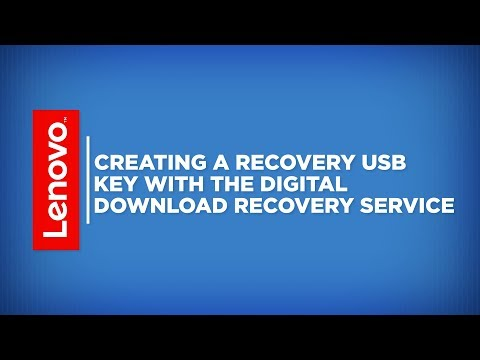 How To - Creating A Recovery USB Key With Digital Download Recovery Service