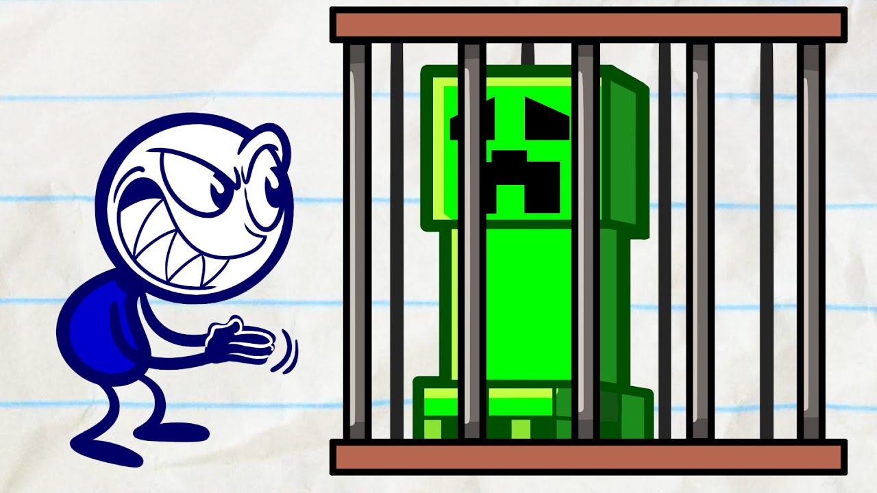 Pencilmate in Prison! | Animated Cartoons Characters | Animated Short Films | Pencilmation