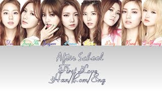 Gambar cover After School - First Love (lyrics Han/Rom/Eng colorcoded)