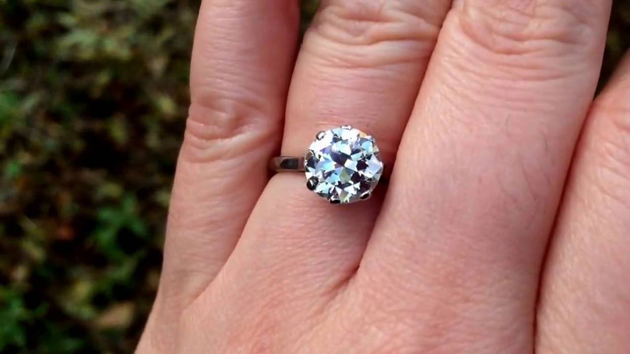 18k 2.5ct solitaire ring - YouTube