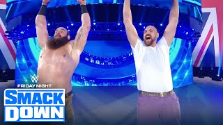 Tyson Fury teams up with Braun Strowman on WWE Friday Night SmackDown | FRIDAY NIGHT SMACKDOWN