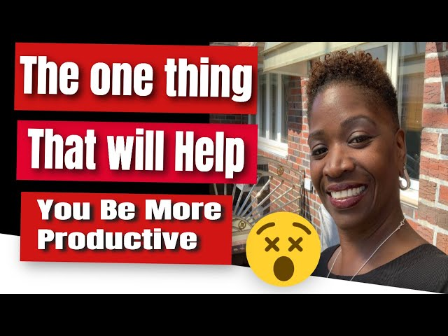 The one thing that helps me be 💪🏽💪🏽💪🏽productive in my business| Successful Solution Method