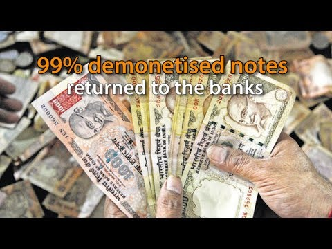 RBI says 99% of demonetised notes returned to banking system