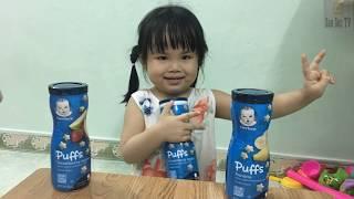 Review Bánh Ăn Dặm Cho Bé Gerber Graduates Puffs - Cuộc Sống Của Bé | SauSoc TV