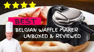 BEST Hamilton Beach Belgian Waffle Maker Unboxing & Review