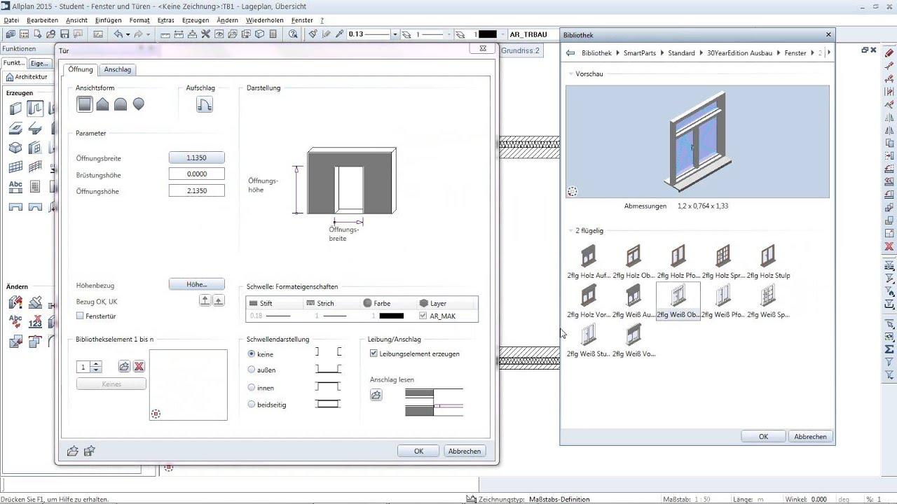 allplan campus tutorial t ren youtube. Black Bedroom Furniture Sets. Home Design Ideas