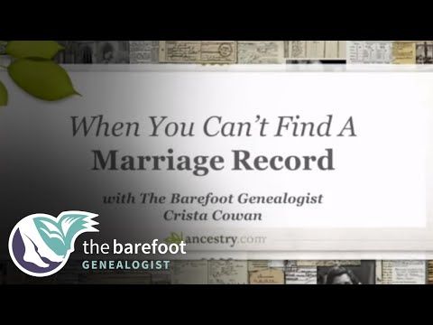 When You Can't Find a Marriage Record
