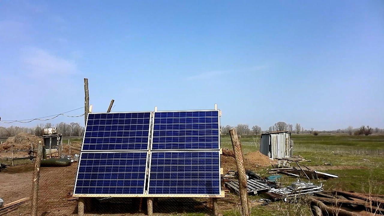Солнечная электростанция 1кВт для дома на ферме. 1.