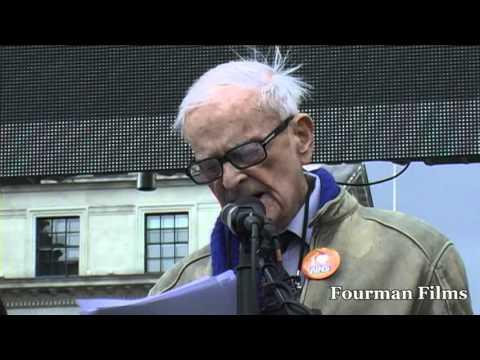 Harry Leslie Smith - Junior Doctors Protest 18 10 15