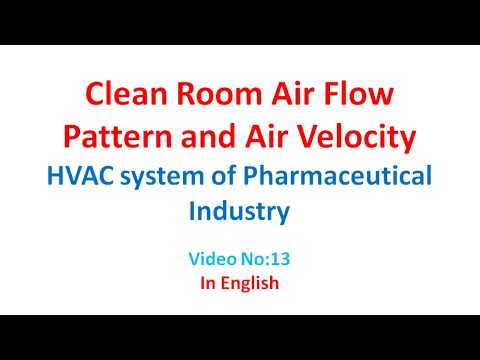Clean room Air Flow Pattern (HVAC System) in English [Video No 13 ]