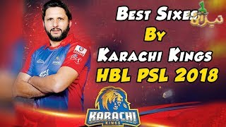 Best Sixes By Karachi King | Best Moments | HBL PSL 2018