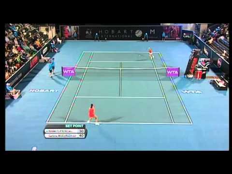 Garbiñe Muguruza v Kirsten Flipkens Hobart International Tennis 2014 - Match Highlights
