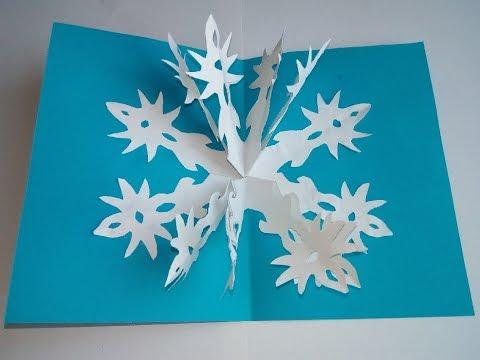 Weihnachtskarten Origami.Bastelideen Zu Weihnachten 3d Weihnachtskarten Machen Pop Up Karten Diy