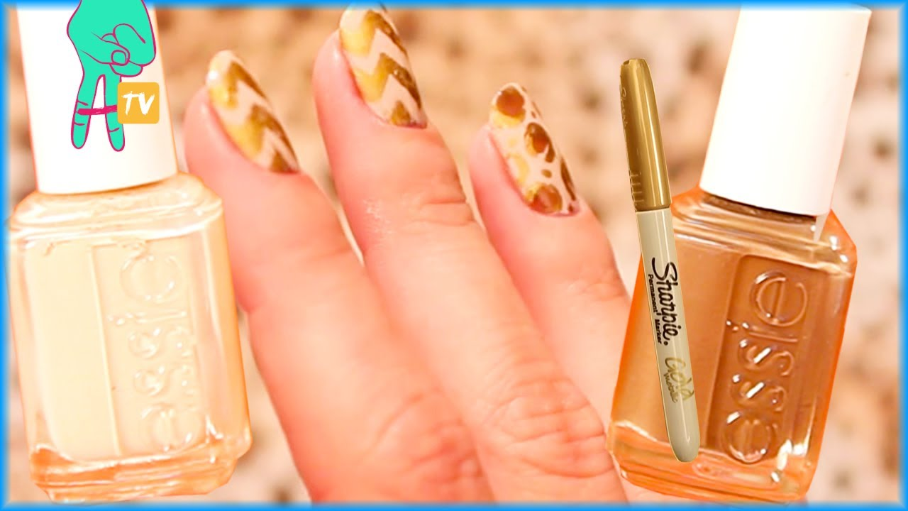 Gold Sharpie Nail Art Nail Pop Ep 15 Youtube