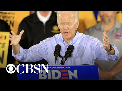 Joe Biden takes aim at Trump in first 2020 campaign rally