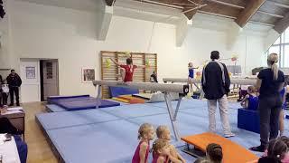 Спортивная гимнастика. Бревно. 3 взрослый разряд