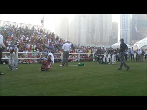 Tiger Woods and Mark o Meara Clinic at the 25th Omega Dubai Desert Classic