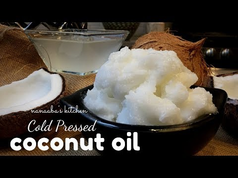 How To Make Cold Pressed COCONUT OIL - Homemade  Virgin Coconut Oil