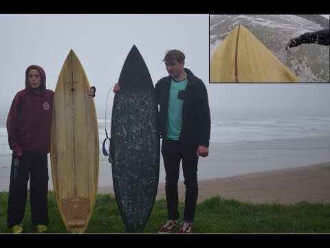 Riding a Handmade Wooden Surfboard for the First Time