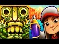 Temple Run 2 Sky Summit VS Subway Surfers Buenos Aires Android iPad iOS Gameplay