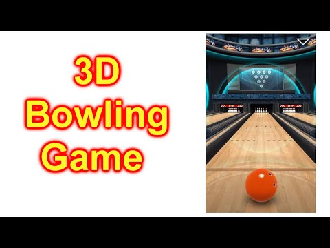 How To Play 3D Bowling Game On Your Cell Phone - 300 Game - FREE