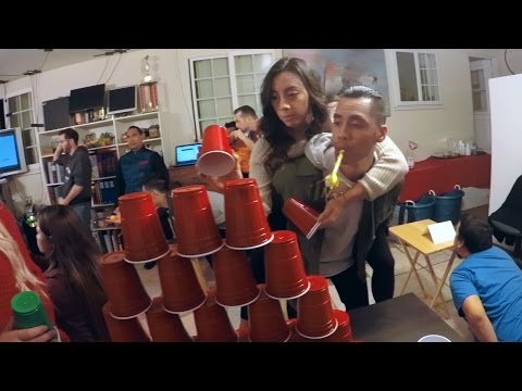 The Mannequin Challenge! (Party Games Edition) | Minute to Win It Gamers