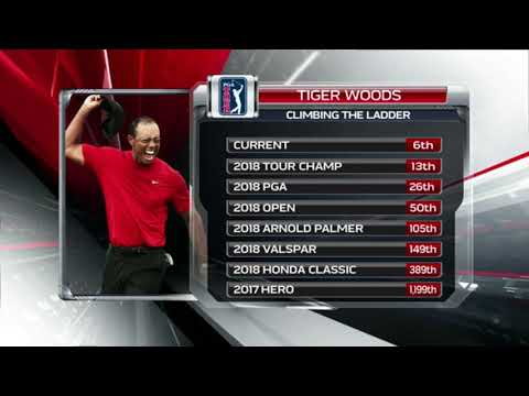 Tiger Woods Official World Golf Ranking 2017 To 2019
