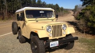 """1970 Kaiser Jeep CJ5 from TV Show """"Dig Fellas"""" Restoration for metal detecting, off road 4x4"""
