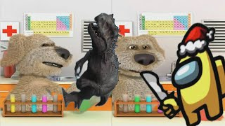 Talking Ben The Dog 2 New Laboratory Experiments - Talking Ben VS. Impostor (Among Us) & T-Rex 2 screenshot 3