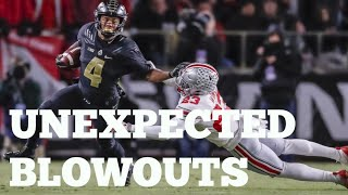 College Football Unexpected Blowouts Compilation