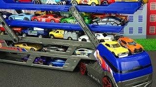 Trickfilm über die Hot Weels Autos. 20 St. Sammlungsautos. Spielzeug für Jungen