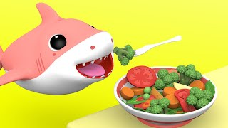 Yes Yes Vegetables Song | +More Nursery Rhymes & Kids Songs with Baby Shark Family