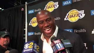 Magic Johnson is thrilled about the Los Angeles Dodgers going to the World Series | ESPN
